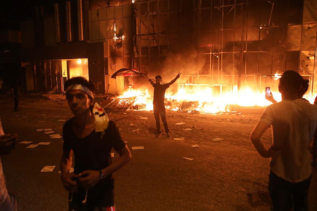 Basra Riots Iranian Consulate
