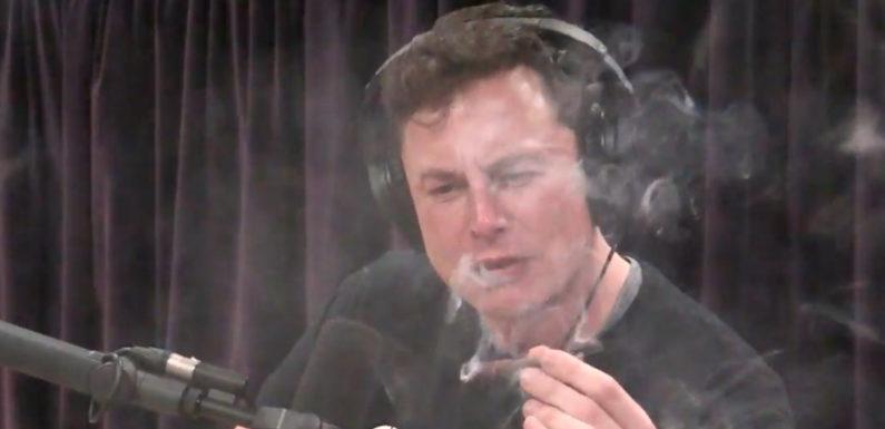 Elon Musk smokes marijuana live during a web podcast