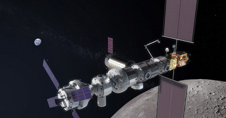 NASA Signs Contract with Maxar for Building Moon-Orbiting Space Station